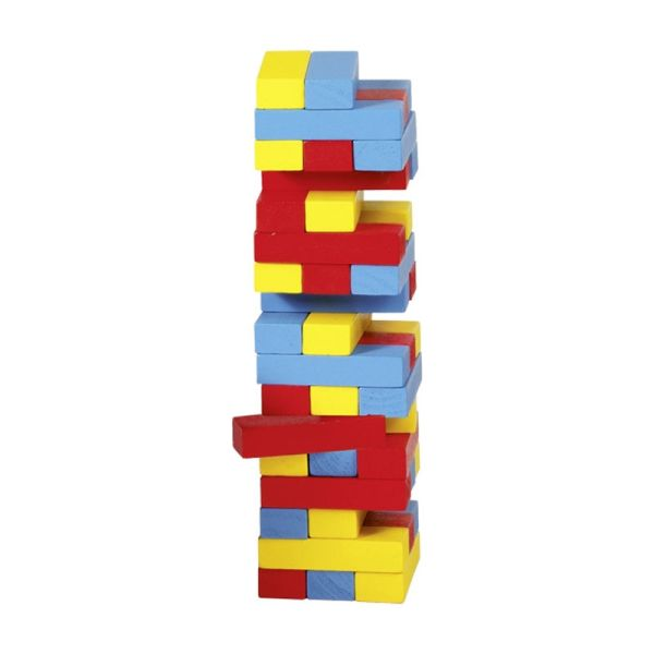 goki HS973 kleiner Stapelturm farbiger Wackelturm