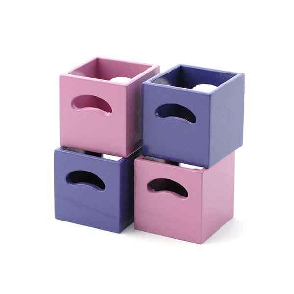 dolls house 4223 kisten boxen f r regal lila rosa 1 12 f r. Black Bedroom Furniture Sets. Home Design Ideas