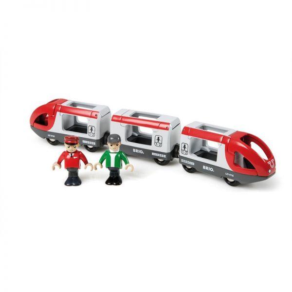 Brio 33505 moderner roter Reisezug für Holzeisenbahn