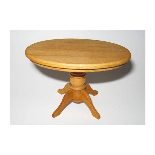 Liebe HANDARBEIT 46015 Couchtisch oval, Kirsche 1:12 für Puppenhaus