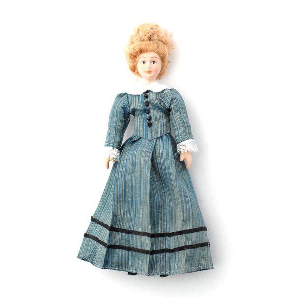 """Dolls House 5678 Puppe """"Miss Mason"""" 1:12 für Puppenhaus"""
