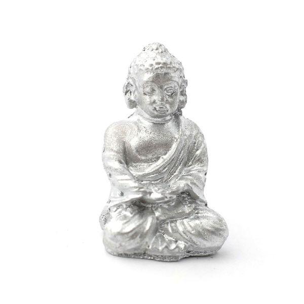 """Dolls House 3513 Statue """"Buddha"""" Ornament silber 1:12 für Puppenhaus"""