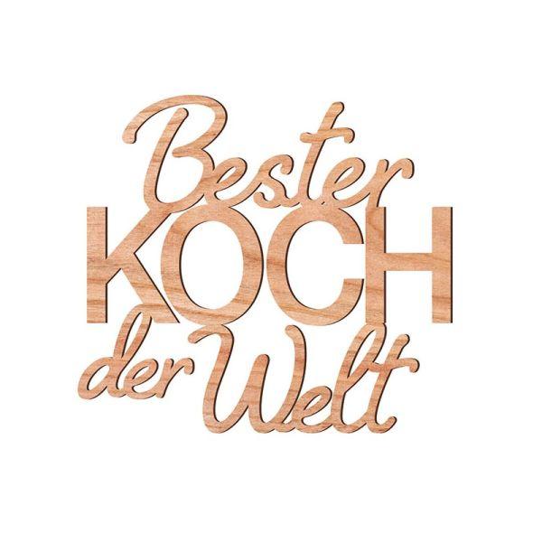 """Waldfabrik 6714 Dekoschriftzug """"Bester Koch der Welt"""" Holz"""
