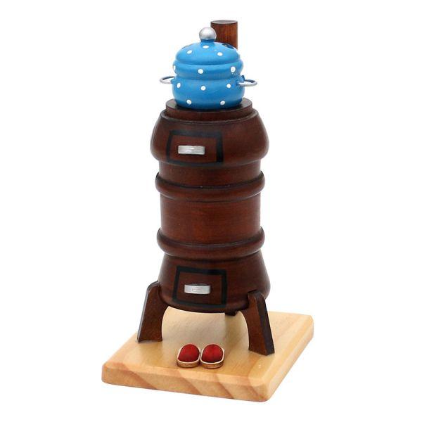 Sigro 521608 Räucherofen braun mit blauen Topf