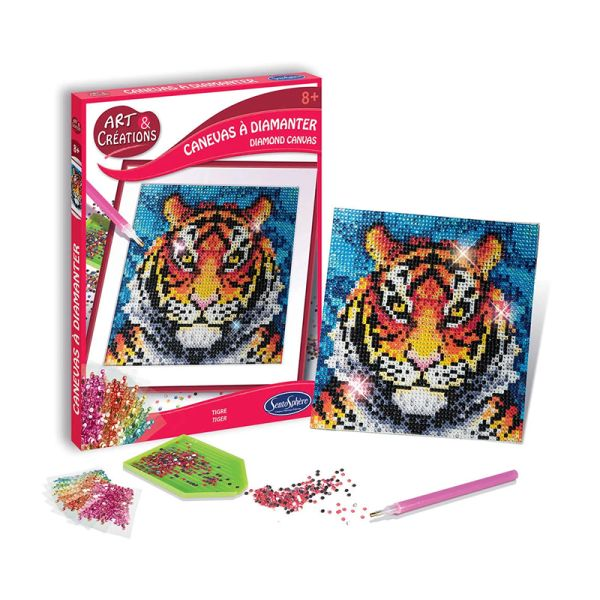 """Art & Creation 2027 Strassstein-Bild """"Tiger"""""""