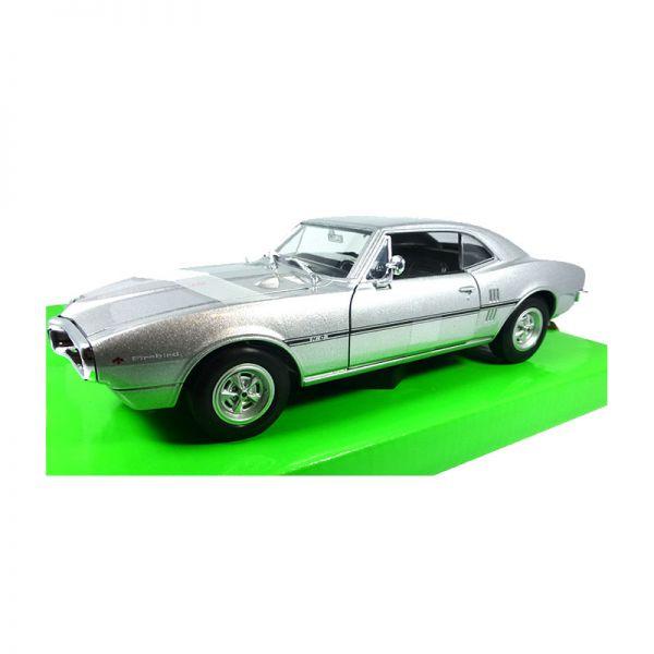 Welly 22502 Pontiac Firebird silber Maßstab 1:24 Modellauto