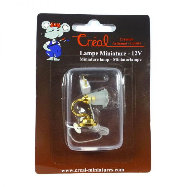Creal 2403 Wandlampe mit Tulpenschirm goldfarben 1:12 für Puppenhaus