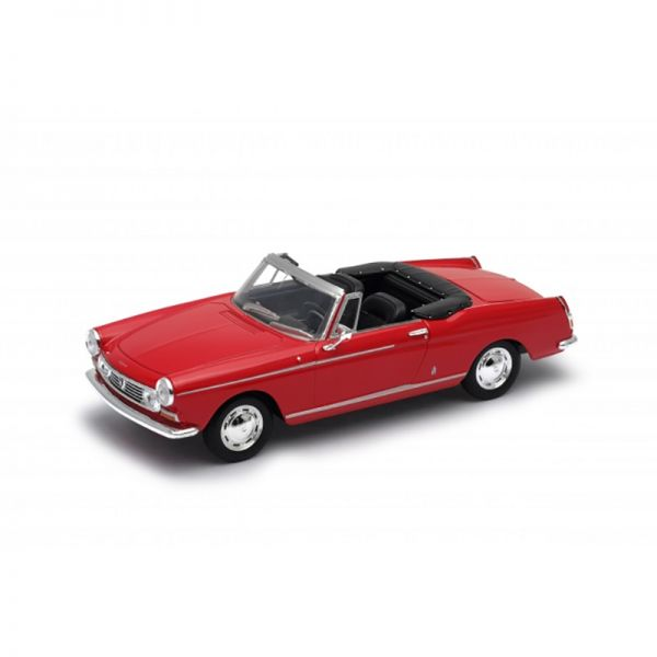 Welly 22494 Peugeot 404 Cabriolet rot Maßstab 1:24 Modellauto