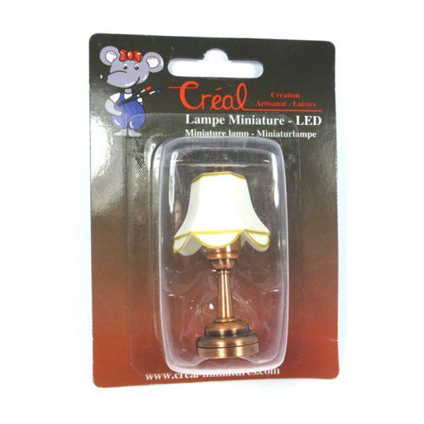 creal 2254 tischlampe mit wei em schirm led mit batterie. Black Bedroom Furniture Sets. Home Design Ideas