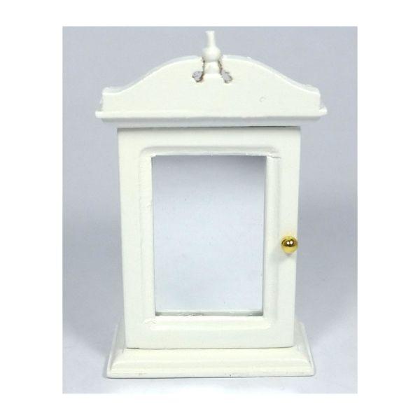 Creal 30671 Wandschrank Spiegelschrank Weiß Holz 1:12 Für Puppenhaus