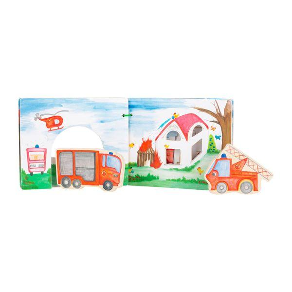 """Legler 12040 Bilderbuch """"interaktive Feuerwehr"""" für Baby"""