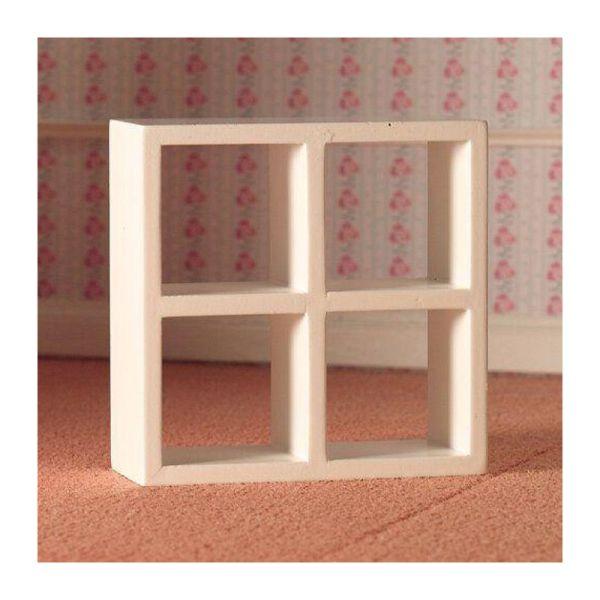 Dolls House 3695 Regal weiß Holz 4 Fächer 1:12 für Puppenhaus