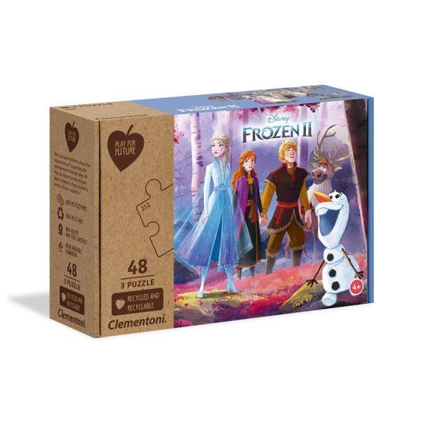 """Clementoni 25255 Puzzle """"Frozen 2"""" 3x48 Teile"""