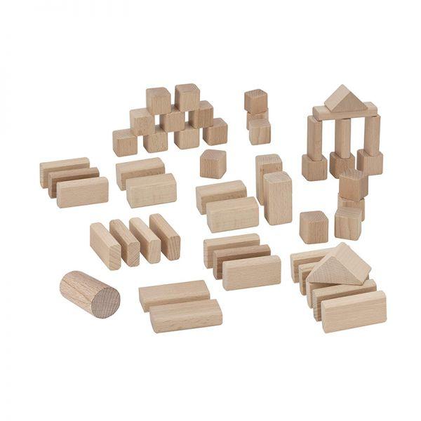 Eichhorn 50141 natur Holzbausteine (50 St.) mit Sortierbox ab 1 Jahr