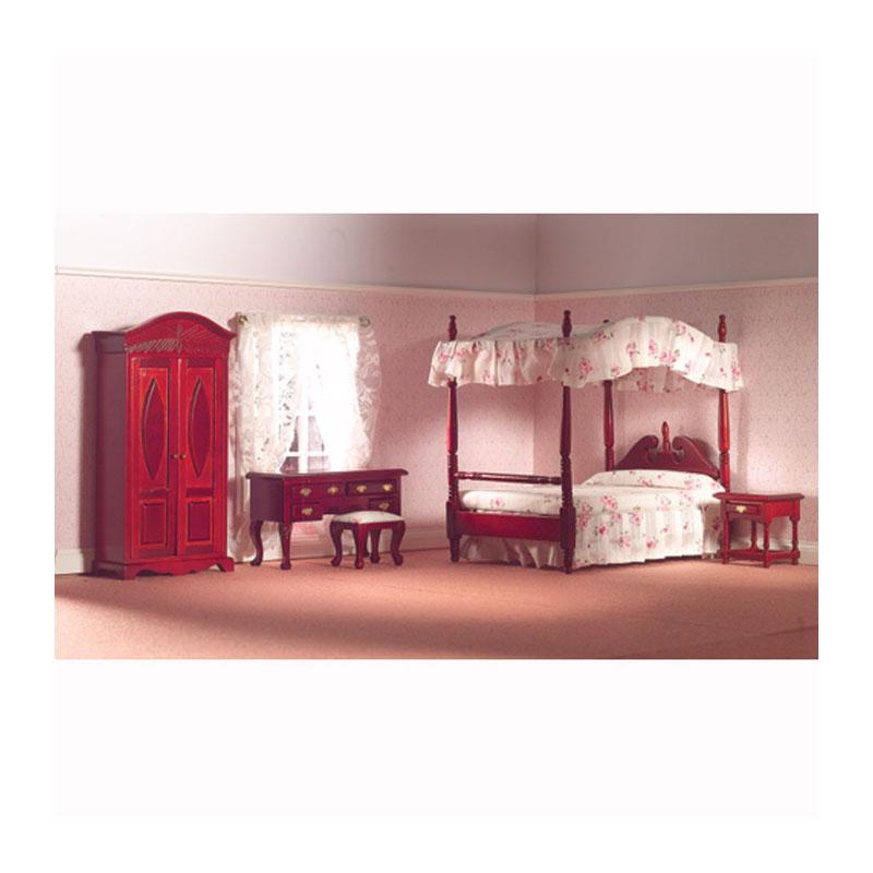 dolls house 5967 schlafzimmer set mahagoni 5 teilig 1 12 f r puppenhaus m bel sets m bel. Black Bedroom Furniture Sets. Home Design Ideas