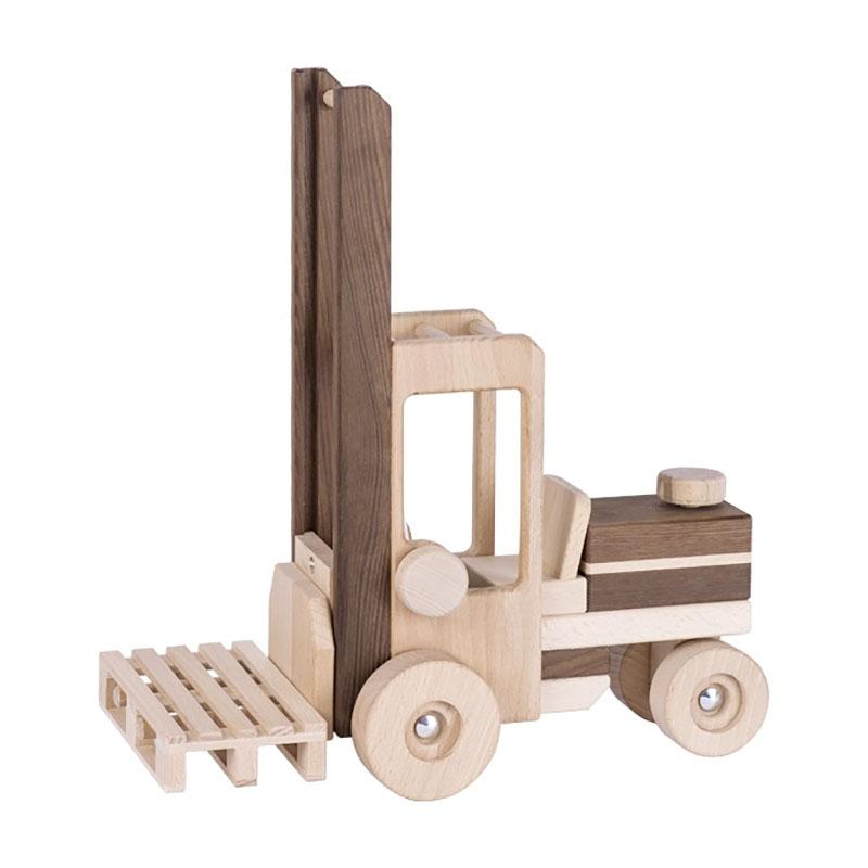 Kipper grün njoykids 14101 Traktor mit Anhänger aus Holz
