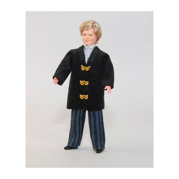 """Caco 11116400 Puppe """"Nostalgie Mann"""" 14 cm Hose, Blazer Biegepuppe 1:12 Puppenhaus"""