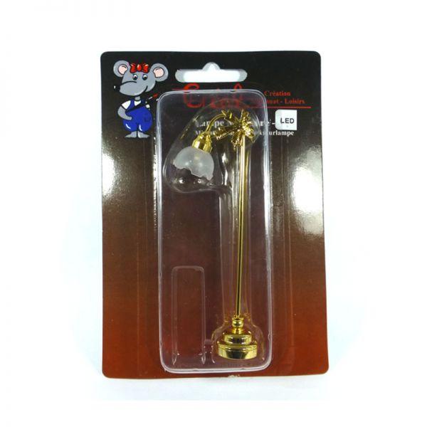 Creal 2203 Stehlampe LED mit Batterie gold 1:12 für Puppenhaus