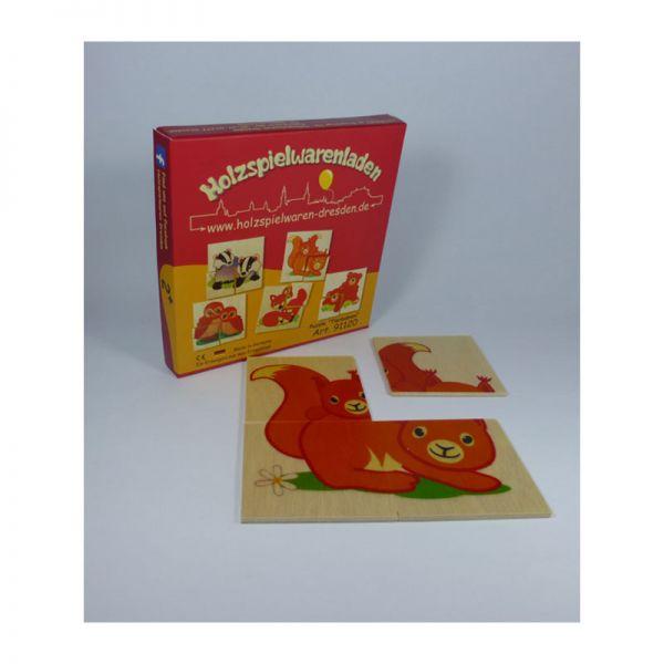 "Holzspielwaren-Dresden 91120 Puzzle ""Tierbabies"" Holzpuzzle 20teilig"