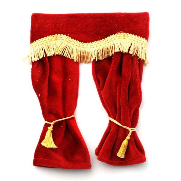 Dolls House 5777 Rote Samtvorhänge (182 x 137mm) 1:12 für Puppenhaus