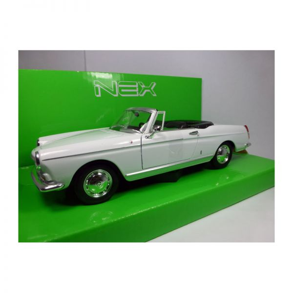 Welly 22494 Peugeot 404 Cabriolet weiss Maßstab 1:24 Modellauto