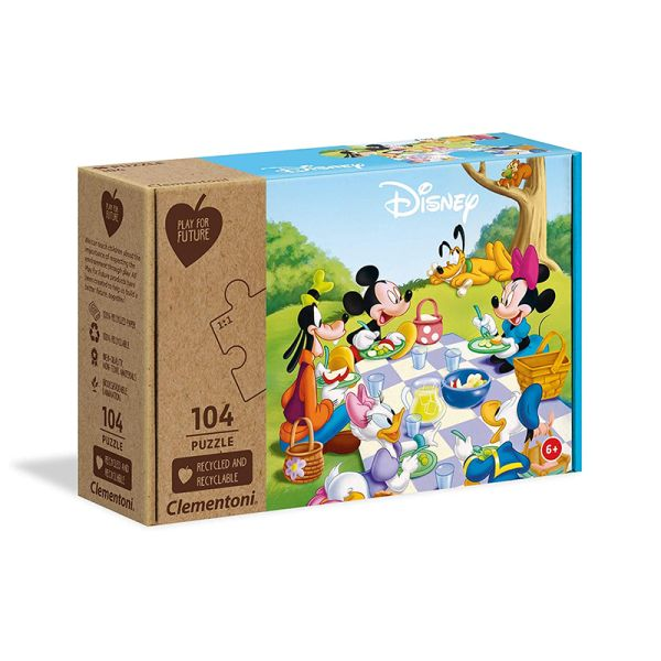 """Clementoni 27153 Puzzle """"Mickey Mouse"""" 104 Teile"""
