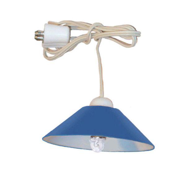 kahlert 10596 led h ngelampe blau mit stecker 3 5v f r. Black Bedroom Furniture Sets. Home Design Ideas