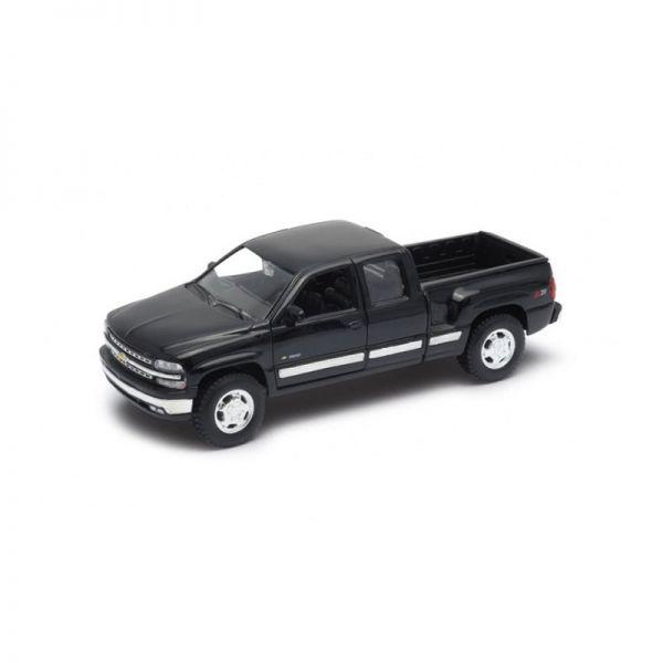 Welly 22076 Chevrolet Silverado schwarz Maßstab 1:24 Modellauto