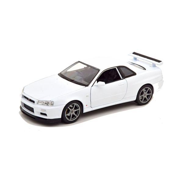 Welly 24108 Nissan Skyline GT-R (R34) weiss Maßstab 1:24 Modellauto