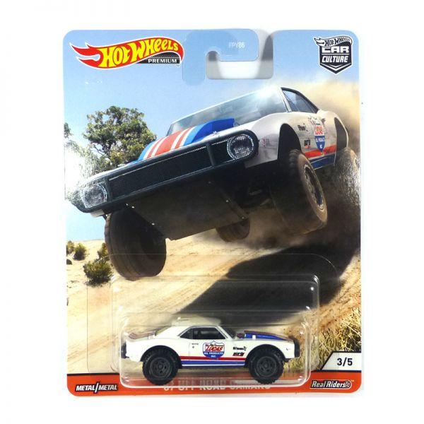 Hot Wheels FPY86-GJP89 Off Road Chevrolet Camaro weiss/rot/blau - Car Culture Maßstab 1:64