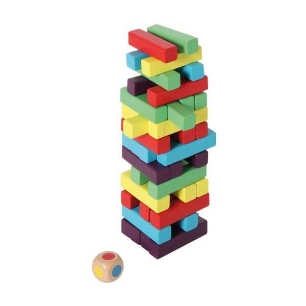 Bartl 1093 Stapeltum bunt Geschicklichkeitsspiel Holz