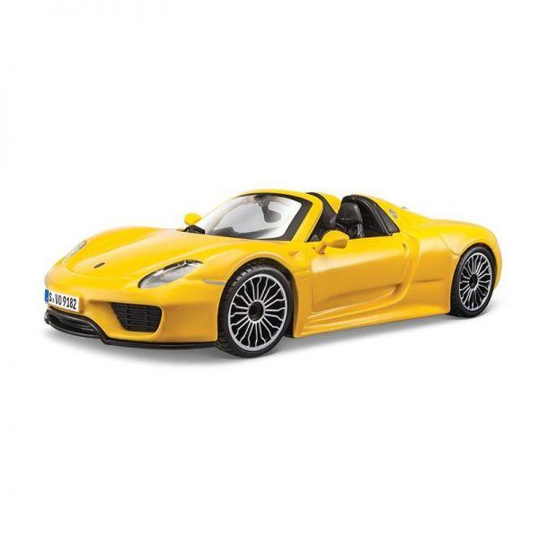 Bburago 21076 Porsche 918 Spyder gelb Maßstab: 1:24