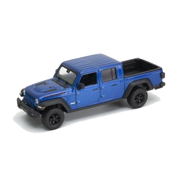 Welly 24103 Jeep Gladiator Rubicon blau metallic Maßstab 1:27 Modellauto
