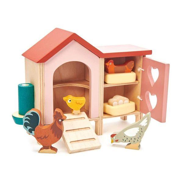 Tender TL8164 Hühnerstall aus Holz für Puppenhaus