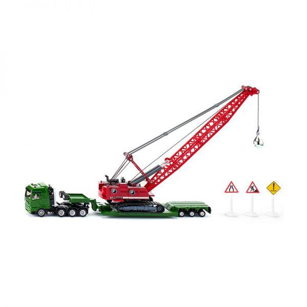 Siku 1834 MAN Schwertransport mit Seilbagger und Verkehrszeichen Maßstab 1:87