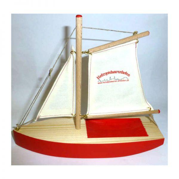 """Ogas 2054 Segelschiff mit """"holzspielwaren-dresden.de"""" Logo Segelboot aus Holz (3122)"""