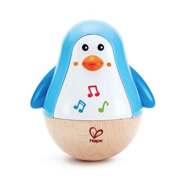 """Hape E0331 Stehaufmännchen """"Pinguin"""" mit Melodie für Kleinkinder"""