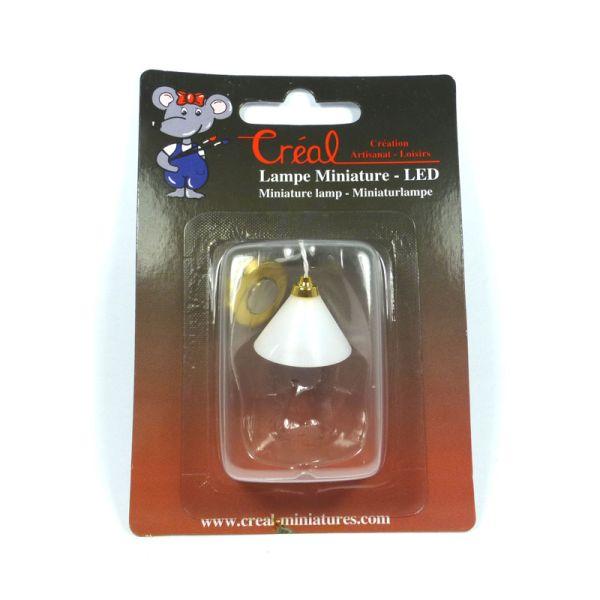 Creal 2247 Hängelampe gold mit weißem Schirm 1:12 für Puppenhaus