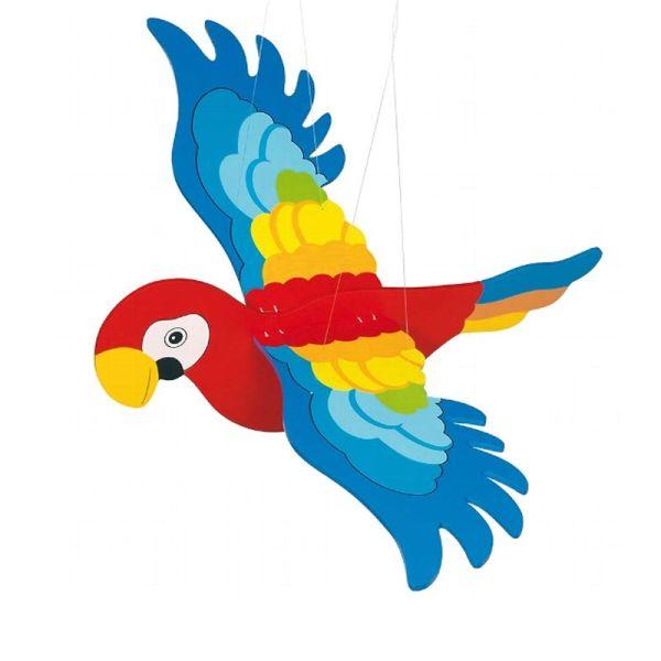 goki GK454 Schwing-Papagei Schwebetier groß 64 cm