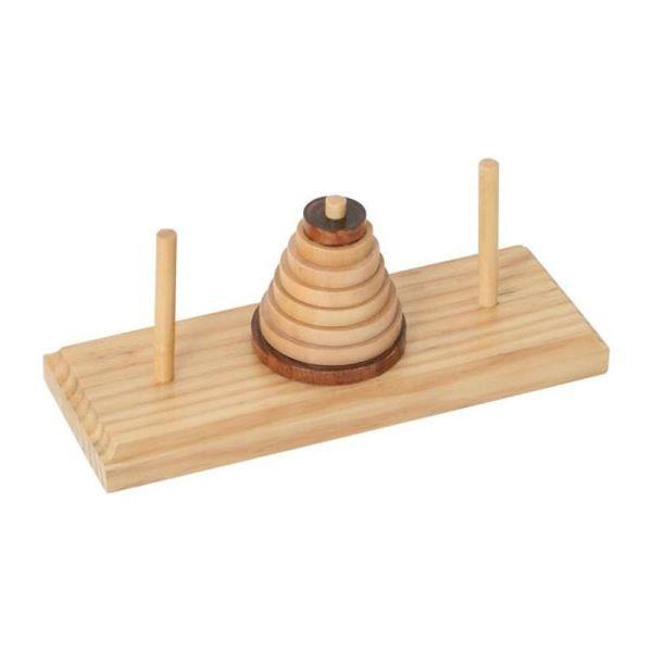 "Bartl 1823 Geduldsspiel ""Turm von Hanoi"" Rätselhafter Turm Holz"