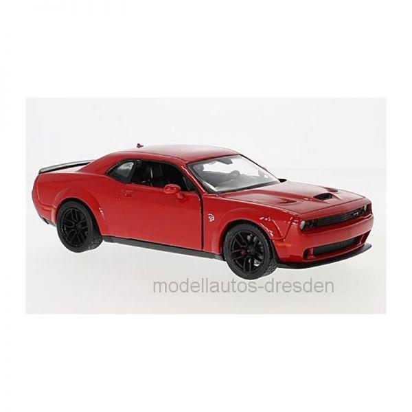 Motormax 79350 Dodge Challenger STR Hellcat rot Maßstab 1:24