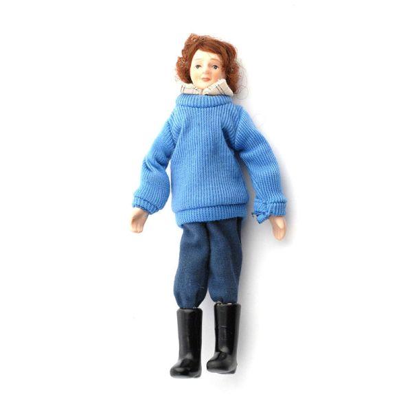 """Dolls House 4446 Puppe moderne Mann """"Tom"""" 1:12 für Puppenhaus"""