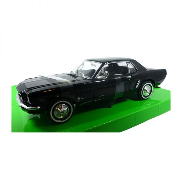 Welly 22451 Ford Mustang Coupe 1/2 schwarz 1964 Maßstab 1:24 Modellauto