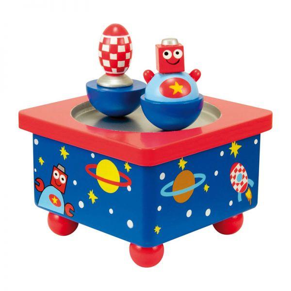"""Ulysse 3894 Spieluhr """"Roboter"""" mit Melodie Holz"""