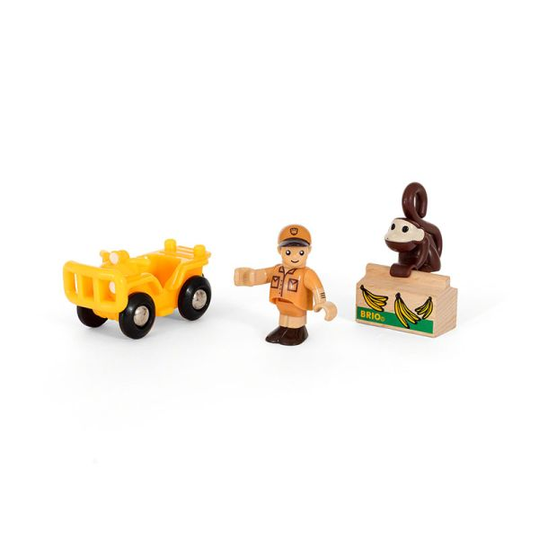 """Brio 33865 Spielpäckchen """"Safari"""" mit Fahrzeug für Holzeisenbahn"""
