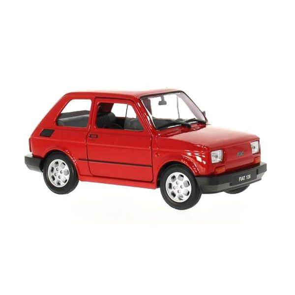 Welly 24066 Fiat 126 weiss Ma/ßstab 1:24 Modellauto