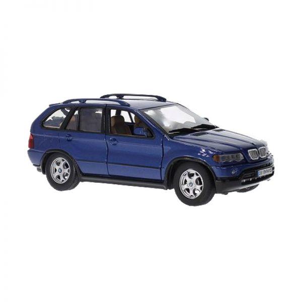 Motormax 73254 BMW X5 dunkelblau metallic Maßstab 1:24