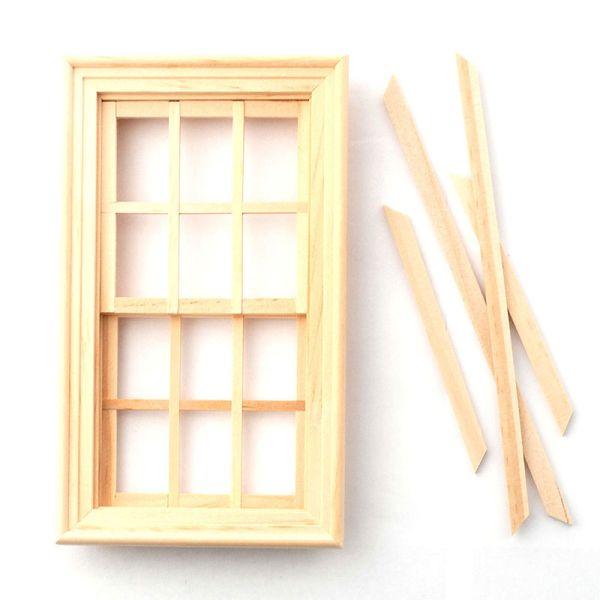 Dolls House 7397 Fenster natur Schiebefenster 1:12 für Puppenhaus