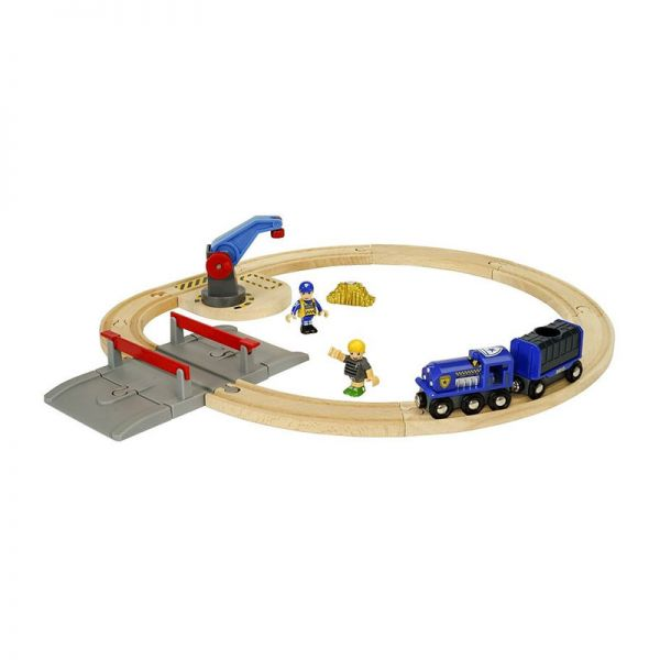 Brio 33812 Polizei Goldtransport-Set für Holzeisenbahn