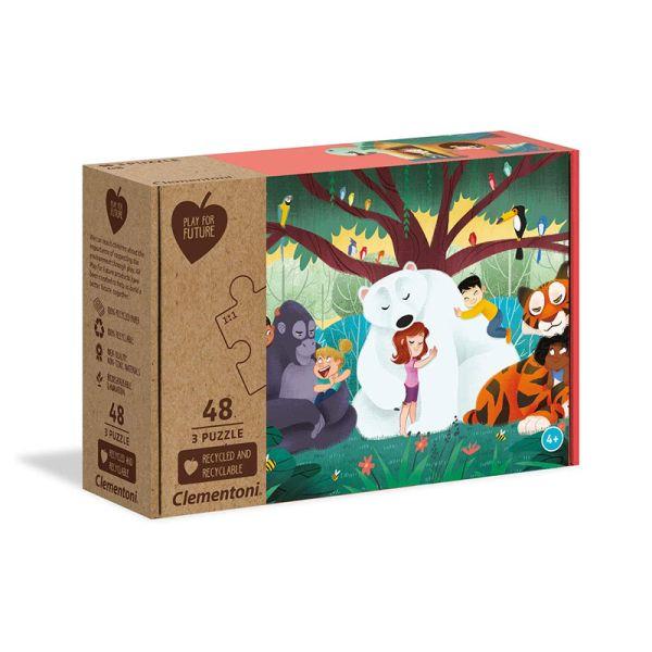 """Clementoni 25253 Puzzle """"Fantasyland"""" 3x48 Teile"""